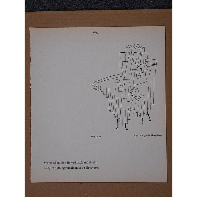Vintage Klee Mid 20th C. Abstract Lithograph - Image 3 of 3