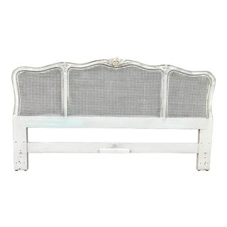 1980s Vintage French Style Henredon King Headboard For Sale