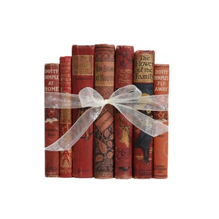 Antique Decorative Book Gift Set for Children: Weathered Red Selections For Sale