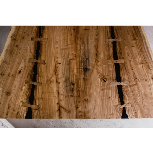 Modern Siberian Elm Conference Table For Sale - Image 3 of 7
