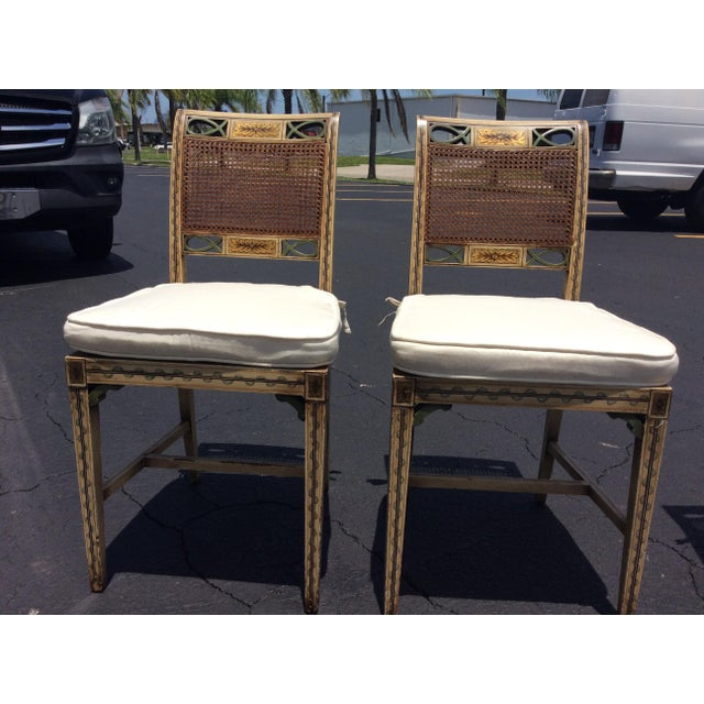 1920s French Country Wicker Dining Chairs - Set of 6 For Sale - Image 11 of 13