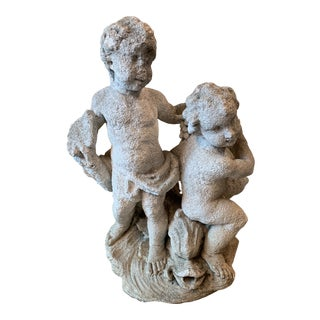 Antique Mediterranean Limestone Fountain For Sale