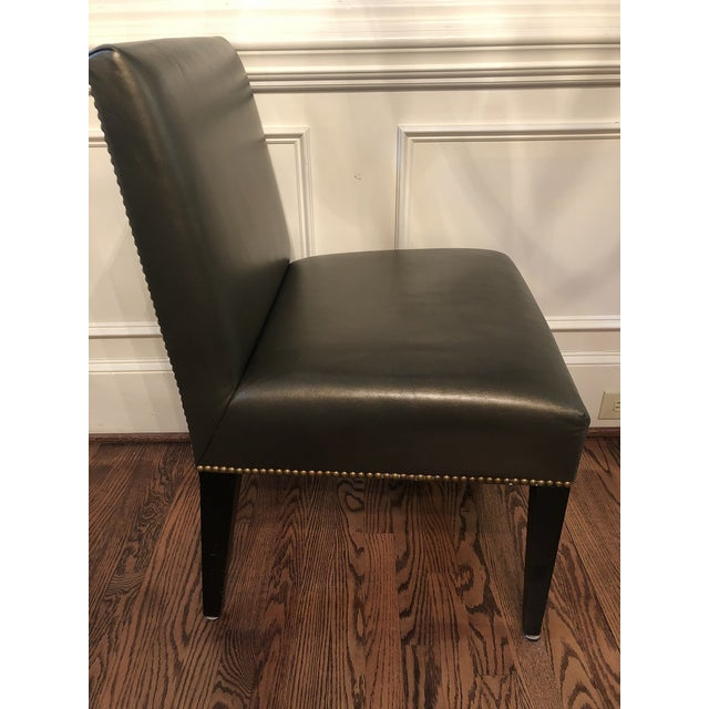 Modern Modern Edelman Leather Custom Built Armless Dining Chairs - Set of 5 For Sale - Image 3 of 8