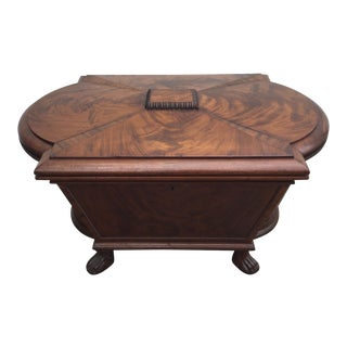 English Regency Mahogany Cellarette For Sale