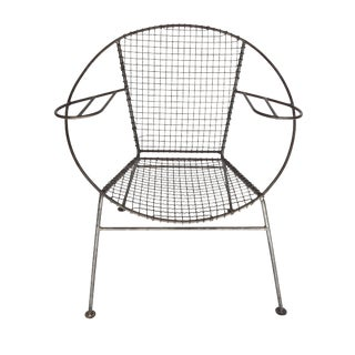 Circular Metal Arm Chair For Sale