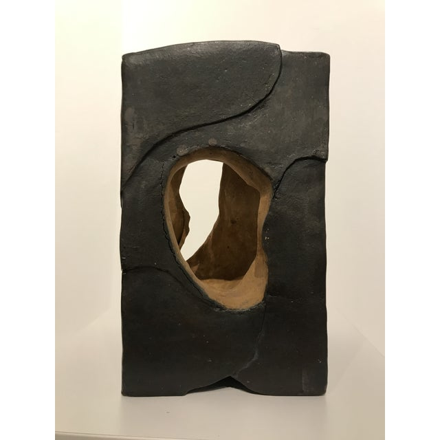 2020 Glow Stoneware Abstract contemporary ceramic centerpiece, with a beautiful light colored center. The piece has an...