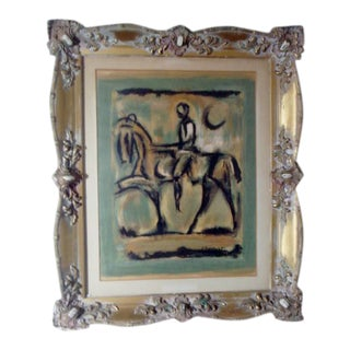 "1940s George Rouault Print, ""Jean D'Arc"", Framed For Sale"