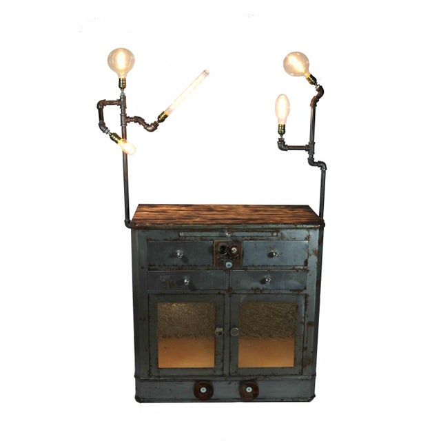 Antique Upcycled Metal Medical Cabinet - Image 2 of 6