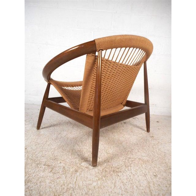 """Illum Wikkelsø Danish Modern """"Ringstol"""" Hoop Chair by Illum Wikkelsø For Sale - Image 4 of 12"""