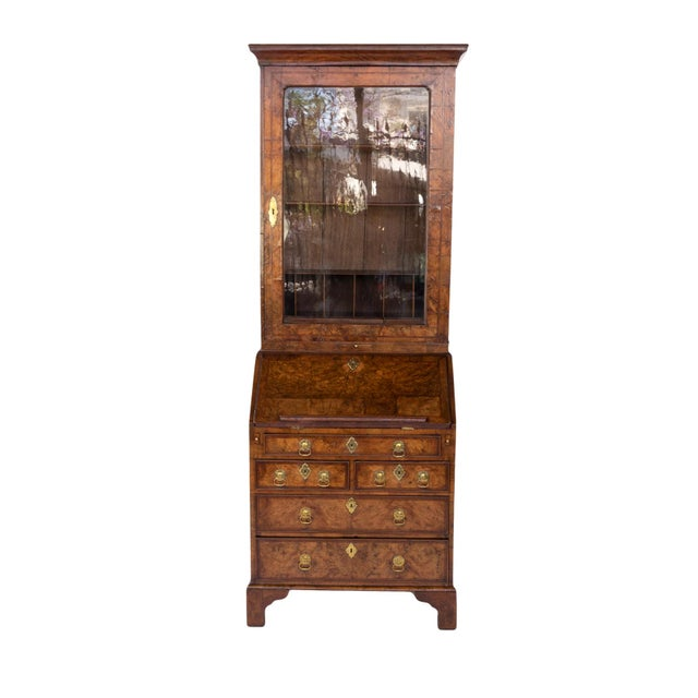Brown George I Walnut Bureau Bookcase, English, Circa 1710 For Sale - Image 8 of 8
