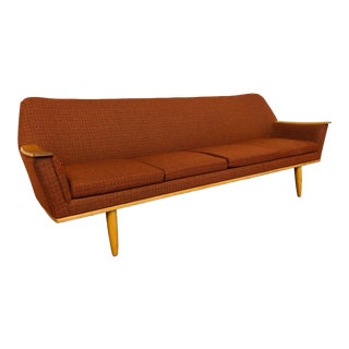 Mid Century Norwegian Orange Sofa For Sale