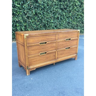 Drexel Mid Century Campaign Chest of Drawers Preview