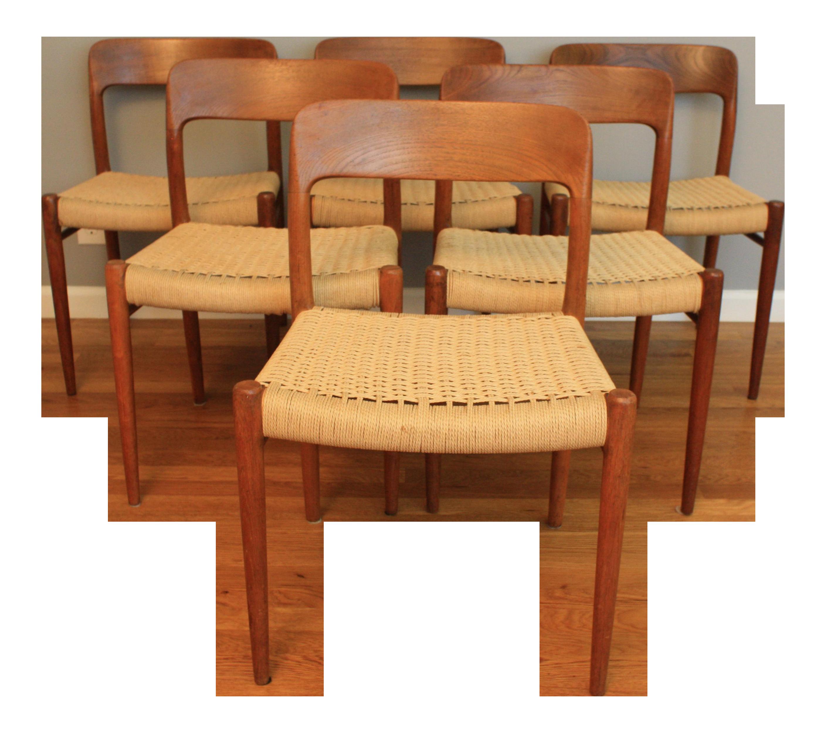Beau Niels Moller #75 Teak Chairs   Set Of 6