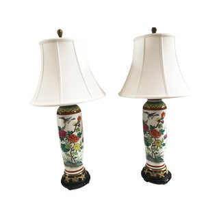 Chinese Porcelain Lamps - a Pair For Sale