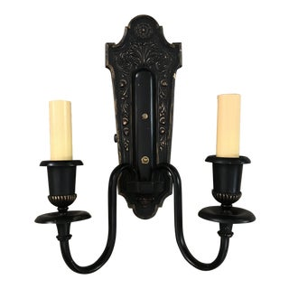 Rewired Double Armed Classical Wall Sconce For Sale