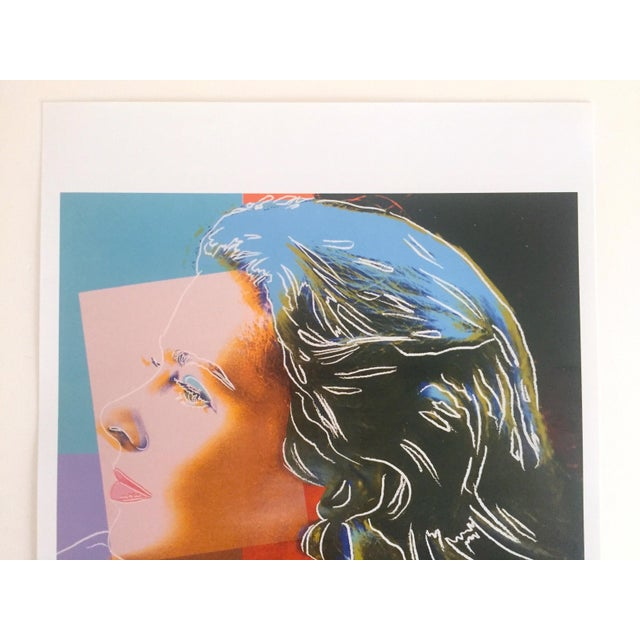"This Andy Warhol Estate rare vintage 1989 collector's Pop Art offset lithograph print "" Ingrid Bergman "" 1983, is an..."