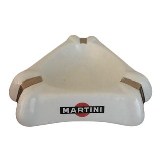 1940s Large French Martini & Rossi Ashtray by Orchies For Sale
