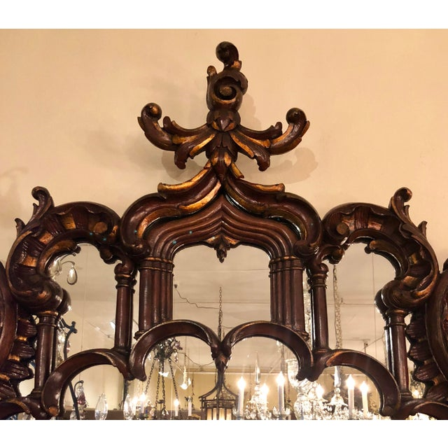 Chippendale Magnificent Antique 19th Century English Chippendale Carved Wood Mirror. For Sale - Image 3 of 5