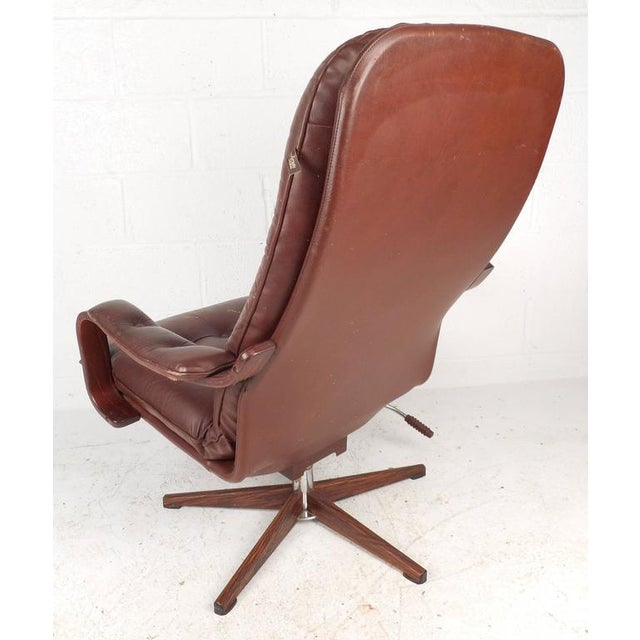 "Mid-Century ""Kropp Stolen Original"" Lounge Chair & Ottoman - Image 4 of 10"