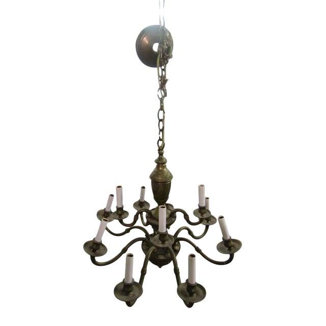 Olde Brass Chandelier For Sale