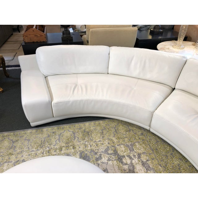 Contemporary Solstice Curved Sectional + Ottoman From Roche Bobois For Sale - Image 3 of 12