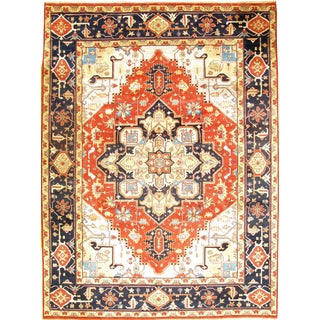 Pasargad Ny Serapi Hand-Knotted Rug - 9' X 12' For Sale