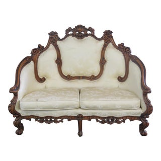 Early 20th Century Vintage Victorian Style Settee For Sale