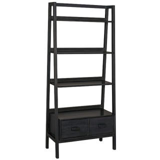 Johnson Bookcase, Charcoal Black For Sale