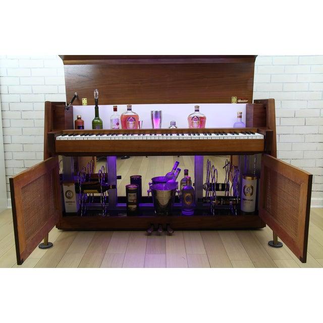 1960s Mid-Century Modern Hidden Piano Bar With Liquor Wine Storage - Baldwin Acrosonic For Sale - Image 5 of 12