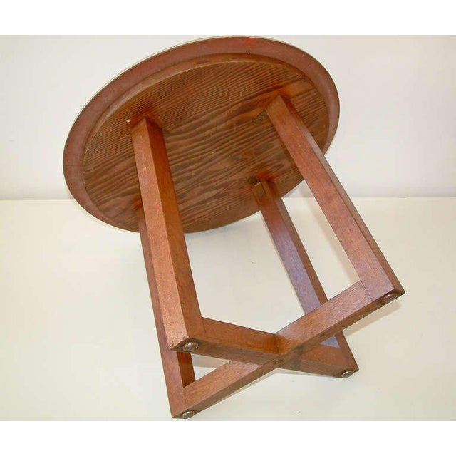Ceramic Design Technics Ceramic and Walnut Table For Sale - Image 7 of 8