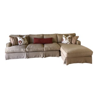 Modern Taylor Sectional Sofa With Chaise For Sale