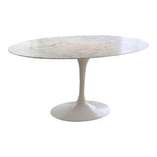Mid-Century Modern Eero Saarinen for Knoll Marble Tulip Dining Table For Sale