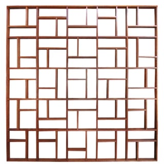 Adesso Imports Mid-Century Modern Geometric Room Divider For Sale