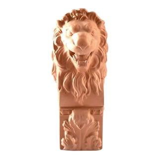 Vintage Terra Cotta Lion Box For Sale