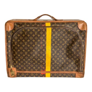 Vintage Louis Vuitton Stripe Travel Bag Suitcase For Sale