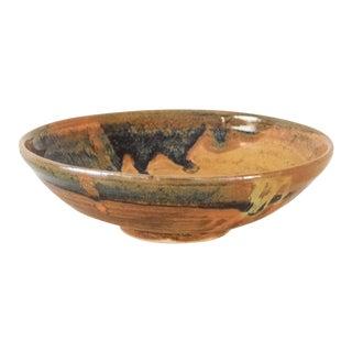 Vintage Mid Century Artisan Crafted Ceramic Bowl