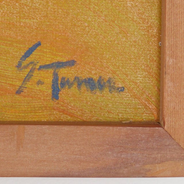 Paint Mid-Century Landscape Painting on Canvas by Sally Turner For Sale - Image 7 of 9
