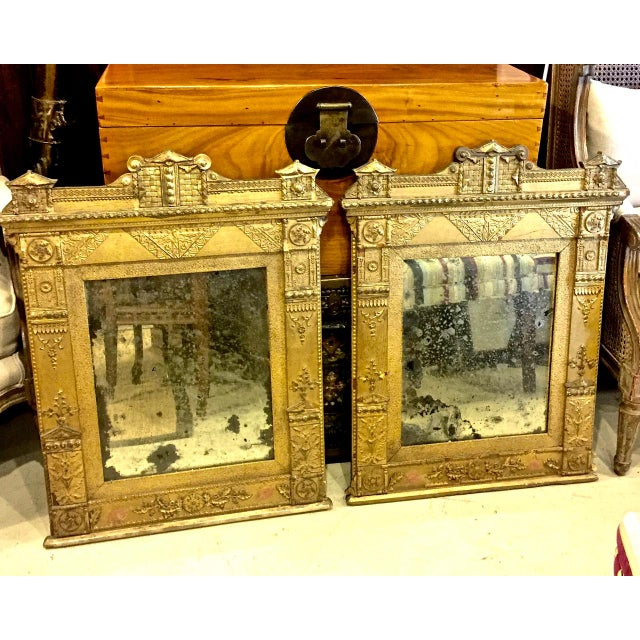 Gold Pair of Late 18th Century French Directoire Gilt Mirrors For Sale - Image 8 of 8