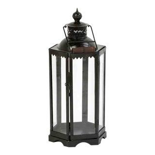 Iron & Glass Lantern Medium For Sale