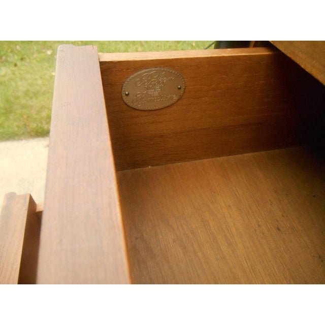 Brown Vintage Baker Furniture Nightstand For Sale - Image 8 of 8