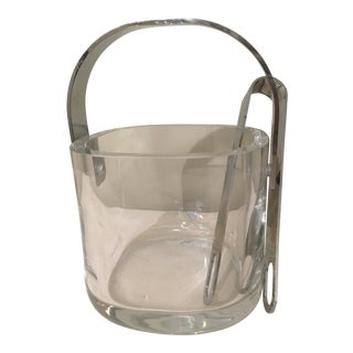 Orrefors Mid-Century Modern Crystal Ice Bucket For Sale