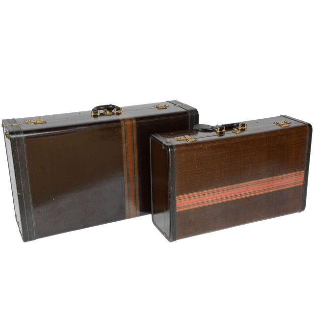 Gorgeous Pair of Vintage Italian Suitcases For Sale - Image 13 of 13
