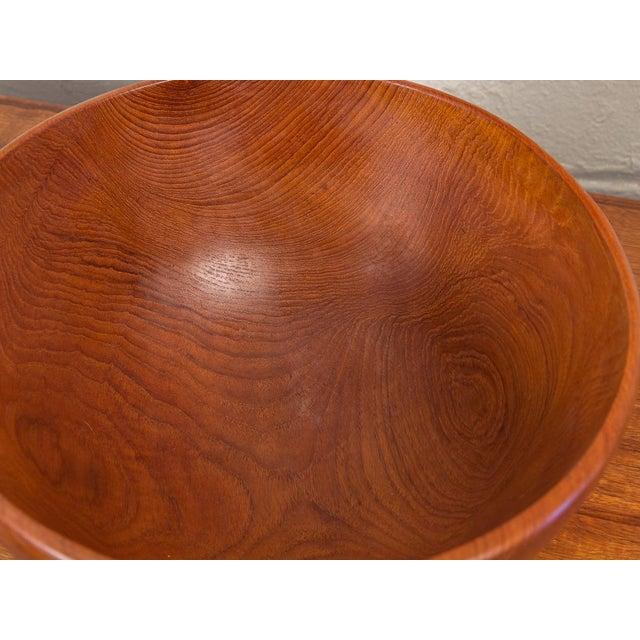 Danish Modern Large American Walnut Serving Bowl For Sale - Image 3 of 8