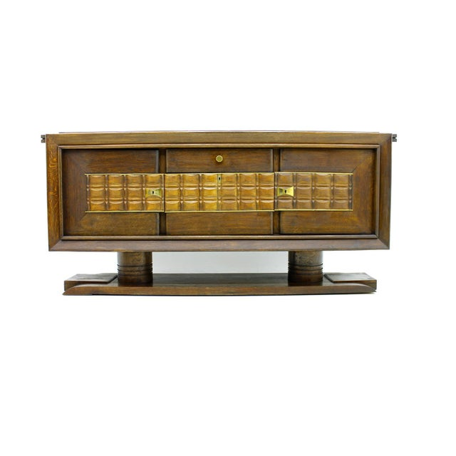 Brutalist Credenza, Sideboard by Charles Dudouyt, France, Circa 1940s For Sale - Image 10 of 10