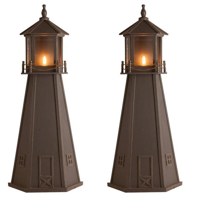 Pair of French Mid-Century Lighthouse Sconces - Image 3 of 3