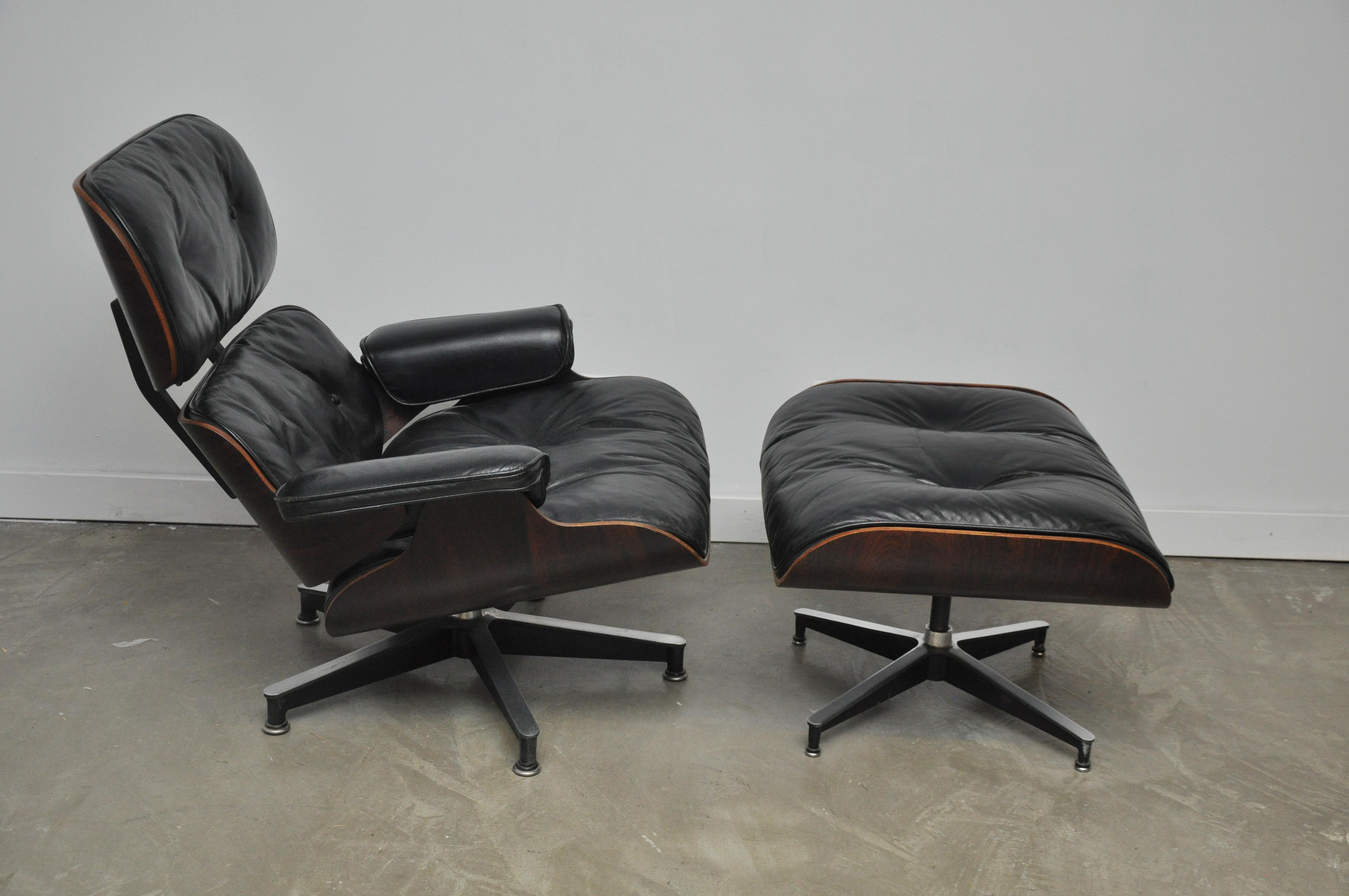 Charles Eames Lounge Chair exquisite rosewood charles eames lounge chair for herman miller decaso