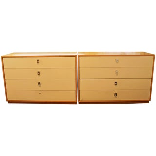 Mid-Century Modern Jack Cartwright for Founders Pair Maple Dressers, 1960s For Sale