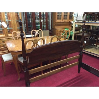 1950s Traditional Kling Furniture Full Size Mahogany Poster Bed Preview