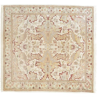 Mansour Fine Handmade Square Agra Rug For Sale