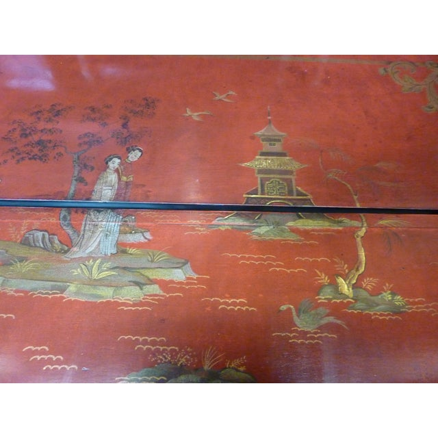 Chinoiserie Secretaire/Bookcase For Sale In Los Angeles - Image 6 of 10